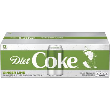 Diet Coke Ginger Lime Soda, 12 Fl Oz, 12 Count - Walmart.com