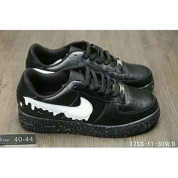 Nike Air fashion casual men and women low to help plate shoes F-HAOXIE-ADXJ Black