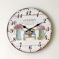 Home Wall Sticker Living Room Quiet Clock [6451857542]