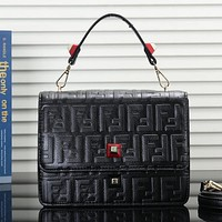 FENDI Women Fashion Leather Crossbody Handbag Shoulder Bag Satchel