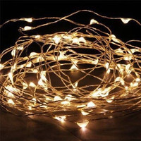 SALE!!! Gypsea Fairy Lights - Fairy Copper Wire String Lights - 10 Meters - 33 Feet - 100 Lights - Wedding, Rustic, Outdoor