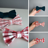 SAMPLE SALE. Large Cotton Hair Bows. Spring Colours.