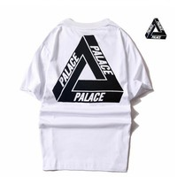 Summer Men T Shirt Classic Triangle Printed Hip Hop Style 100% Cotton Loose Short Sleeve Tops Tee High Quality PALACE Shirt