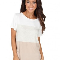 A New Start Top in Tan   Monday Dress Boutique
