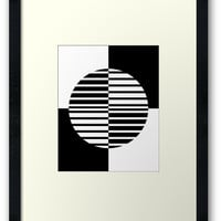 Black and White Circle by Bamalam Art and Photography