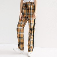BURBERRY Hot Sale Women Men Casual Classic Plaid Sport Pants Trousers Sweatpants