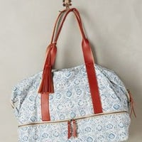 Majolica Weekender by Anthropologie in Blue Size: One Size Bags