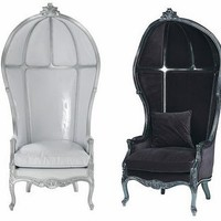 Black Velvet Chair: A spot to Relax...Wingback chairs