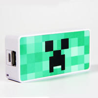 Minecraft Creeper Power Bank External Battery Charger for iPhone and Samsung Andriod