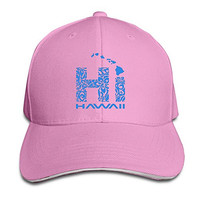 Hi Hawaii State Fitted Fishing Cap Hat Pink