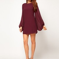 ASOS Shift Dress with Bell Sleeve at asos.com