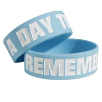 A Day To Remember: A Day To Remember Logo Baby Blue Bracelet