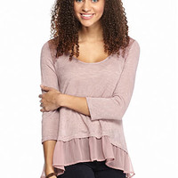 Living Doll Lace Applique 2Fer Top - Belk.com