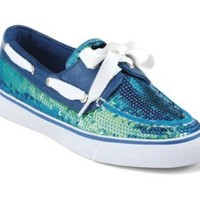 Sperry Top-Sider Women's Bahama 2-Eye Sequins,Blue Iridescent Sequins,US 8 M