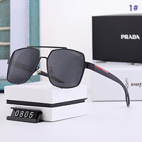PRADA New fashion polarized sun protection travel glasses eyeglasse men 1#