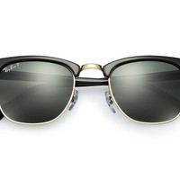 Cheap Ray-Ban Clubmaster Black Green Classic G-15 Polarized Lenses - RB3016 51-mm outlet