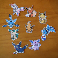 Eevee Evolutions Stickers and Magnets