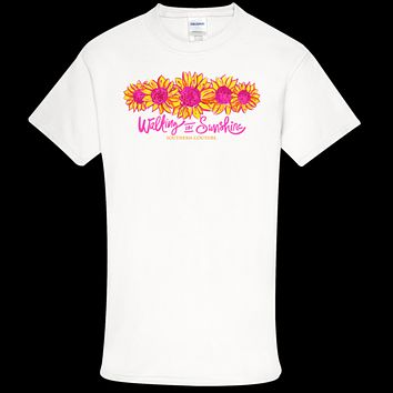 Southern Couture Soft Collection Walking on Sunshine Sunflower front print T-Shirt