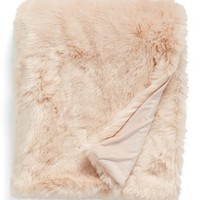 Nordstrom at Home Cuddle Up Faux Fur Throw Blanket | Nordstrom