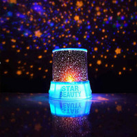 Romantic Blue Amazing Star Sky Cosmos Universal Night Light Christmas Light Kid Chidren Projector Home Decor Luces De Navidad
