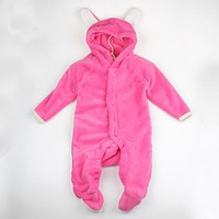 Born Baby Boy Girl Cute Fox Coral Fleece Romper Infant Babies Clothes Jumpsuit Snowsuit