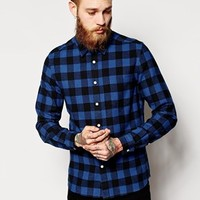 ASOS Shirt In Long Sleeve With Lightweight Buffalo Plaid