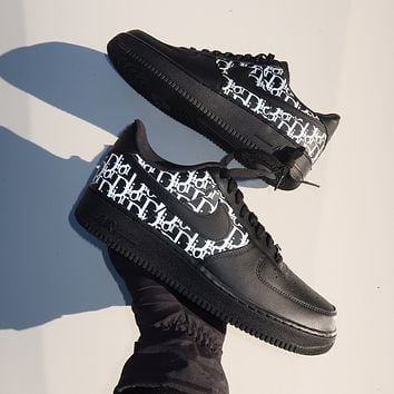 Dior x Nike Air Force 1 Low All-match Casual Sneakers Shoes