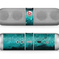The Trendy Green Space Surface Skin for the Beats by Dre Pill Bluetooth Speaker
