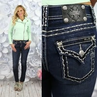 Sweetly Scalloped Skinny Jeans by Miss Me