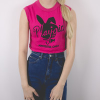 Vintage Deadstock Playgirl Cropped Tank Top Shirt