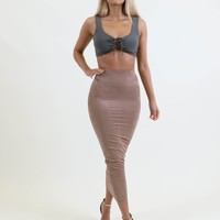 Aaliyah Suedette Maxi Skirt