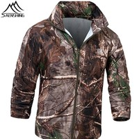 Saenshing Hunting Clothes for Hunting Summer Autumn Man's Waterproof Jacket Camping Windproof Bionic Jacket Compressed S-XXL