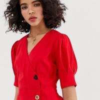Moon River mini dress with button detail | ASOS