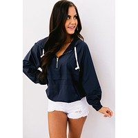 Break The Habit Hooded Jacket (Navy)