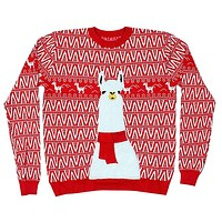 No ProbLlama Christmas Sweater by Preppy Elves