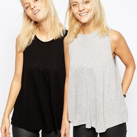 ASOS Swing Tank With Drape 2 Pack Save 10%