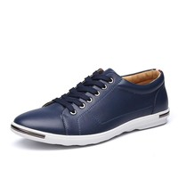 Men's Fashion Leather Oxford Shoes Casual Flats Shoes business Shoes