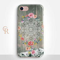 Mandala Phone Case For iPhone 8 iPhone 8 Plus - iPhone X - iPhone 7 Plus - iPhone 6 - iPhone 6S - iPhone SE - Samsung S8 - iPhone 5