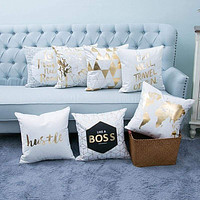 45*45 CM High Quality Gold Printed Pillow Case
