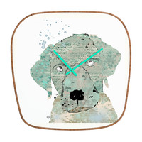 Brian Buckley Labrador Graffiti Modern Clock
