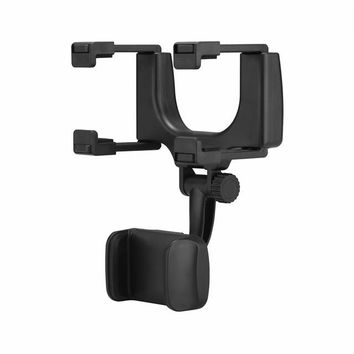 Universal 360 Degrees Car Rear View Mirror Phone Holder