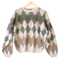 Tan Argyle Cosby / Golf Ugly Sweater - The Ugly Sweater Shop