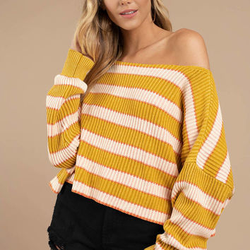 Free People Just My Stripe Pullover Top