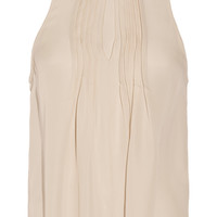 Chelsea Flower Camilla pleated silk top – 55% at THE OUTNET.COM