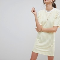 adidas Originals adicolor Three Stripe Dress In Yellow at asos.com