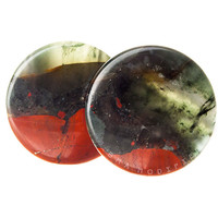 "Build Your Bloodstone Stone Plugs (2g-3"")"