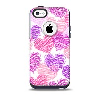 The Loopy Pink and Purple Hearts Skin for the iPhone 5c OtterBox Commuter Case