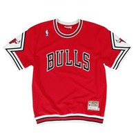 Mitchell & Ness Chicago Bulls Authentic Shooting Shirt in Red