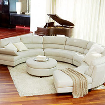 Franchesca Leather Sectional Living Room Furniture Collection - Living Room Furniture - furniture - Macy's
