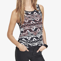 STUDDED AZTEC PRINT TANK from EXPRESS